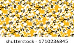 positive bright yellow spring... | Shutterstock .eps vector #1710236845