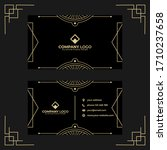 art deco business card design...   Shutterstock .eps vector #1710237658