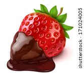 strawberry in chocolate | Shutterstock .eps vector #171024005