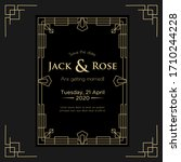 art deco wedding invitation... | Shutterstock .eps vector #1710244228