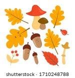 Autumn Set Of Illustrations In...