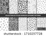 collection of vector seamless... | Shutterstock .eps vector #1710257728