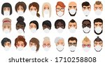 people avatars in masks cartoon ... | Shutterstock .eps vector #1710258808