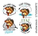 mirror carp emblems. mirror...   Shutterstock . vector #1710260872