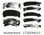 flat paint brush thin curved... | Shutterstock .eps vector #1710296212