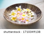 A Bowl Of Flower Petals In Water