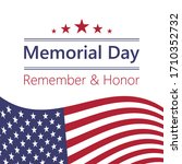 usa memorial day  remember and... | Shutterstock .eps vector #1710352732