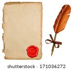 antique paper sheet and vintage ... | Shutterstock . vector #171036272