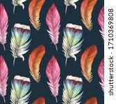 seamless pattern of different... | Shutterstock . vector #1710369808