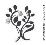 collection of floral design... | Shutterstock . vector #171037715