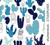 hand drawn decorative seamless... | Shutterstock .eps vector #1710391405