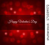 valentines day red lights... | Shutterstock . vector #171039572