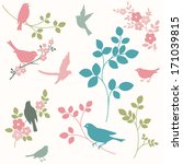 Set Of Birds And Twigs....