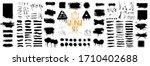 diverse set of black paint ... | Shutterstock .eps vector #1710402688