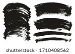 flat paint brush thin curved... | Shutterstock .eps vector #1710408562