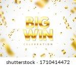 big win golden text with... | Shutterstock .eps vector #1710414472