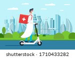 medicine delivery pharmacy.... | Shutterstock .eps vector #1710433282