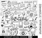 set of internet social strategy ... | Shutterstock .eps vector #171044402