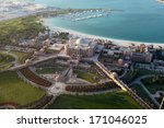 aerial view of the emirates...   Shutterstock . vector #171046025