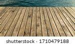 Vintage Wooden Deck Floor Walk...