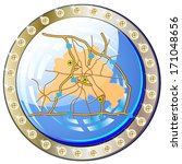 button with city map from... | Shutterstock . vector #171048656
