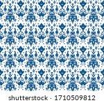 ikat seamless pattern. border... | Shutterstock .eps vector #1710509812