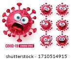 covid19 corona virus emojis... | Shutterstock .eps vector #1710514915