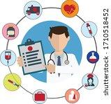 medical concept art design in... | Shutterstock .eps vector #1710518452