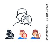 do not touch face area with... | Shutterstock .eps vector #1710533425