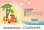 banner advertising  summer...   Shutterstock .eps vector #1710541495