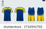 t shirt mockup  sport shirt... | Shutterstock .eps vector #1710541702