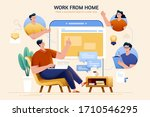 concept of telecommuting and... | Shutterstock . vector #1710546295