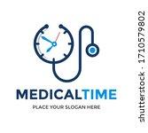 medical time vector logo... | Shutterstock .eps vector #1710579802