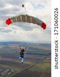 parachutist pilots filled chute. | Shutterstock . vector #171060026