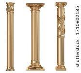 3d european style classical...   Shutterstock . vector #1710602185
