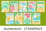 healthy organic food advertise...   Shutterstock .eps vector #1710609625