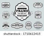 set of retro vintage badges and ... | Shutterstock .eps vector #1710612415