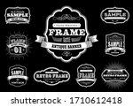 set of retro vintage badges and ... | Shutterstock .eps vector #1710612418