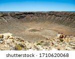 Meteor Crater View  Arizona  Usa