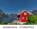 Red House At Aurlandsfjord In...