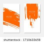 abstract ink brush banners set... | Shutterstock .eps vector #1710633658