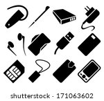 mobile phone accessories icon... | Shutterstock .eps vector #171063602
