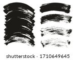 flat paint brush thin curved... | Shutterstock .eps vector #1710649645