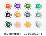 set of buttons with numbers ... | Shutterstock .eps vector #1710651145