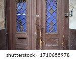 Old Wooden Door Of A House