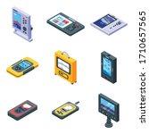 echo sounder icons set.... | Shutterstock .eps vector #1710657565
