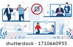 online business relationship... | Shutterstock .eps vector #1710660955