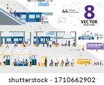 city public transport  subway... | Shutterstock .eps vector #1710662902