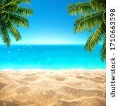 Summer Sandy Beach With Blured...