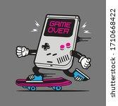 skater retro game gamer game... | Shutterstock .eps vector #1710668422